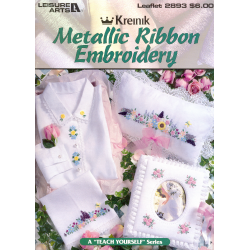 Livre metallic ribbon embroidery