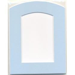 Cadre rectangulaire bleu