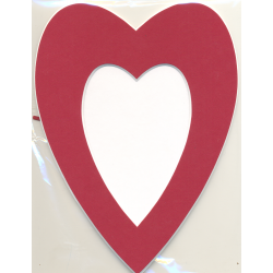 Cadre coeur rouge