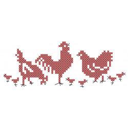 Linge imprimé Les poules