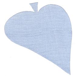 Carreaux bleutés Larg. 150 cm