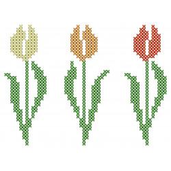 Linge imprimé Les tulipes