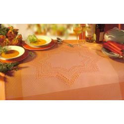 Nappe Hardanger brun-roux 8 fils