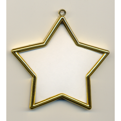 Cadre doré étoile