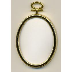 Cadre doré ovale