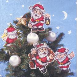 Kit Père Noël sur plastic canevas