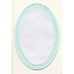 Applique ovale vert