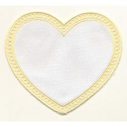Applique coeur jaune