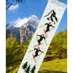 Marque page skis