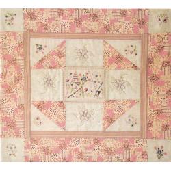 Kit patchwork Plaid fleuri