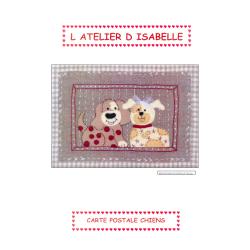 Kit feutrine Carte postale chiens