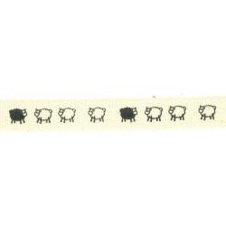Ruban de déco moutons