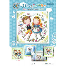 Fiche Alice and a clock rabbit