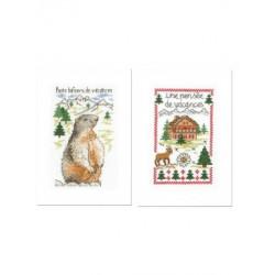 2 Cartes avec enveloppes