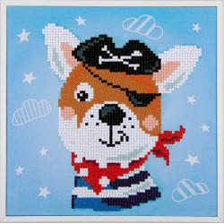 Kit Diamond painting kit Pirate dog