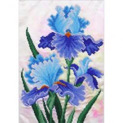Kit broderie perles Iris bleus