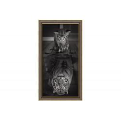 Diamond Painting Tigre à l\'intérieur