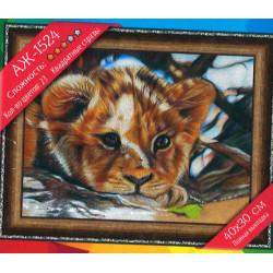 Diamond Painting Bébé lion