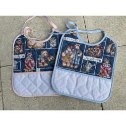 Bavette patchwork bleu